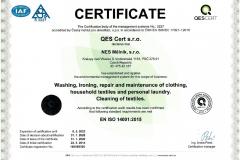 Certifikát AJ 14016-E-05