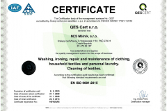 Certifikát AJ 14016-Q-05