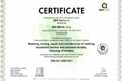 Certifikát ČJ 14016-B-04-N