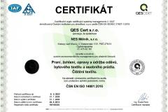 Certifikát ČJ 14016-E-05