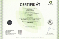 certifikát_NES Mělník, s.r.o._14065_ČJ