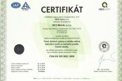 certifikát_NES Mělník, s.r.o._9001_ČJ